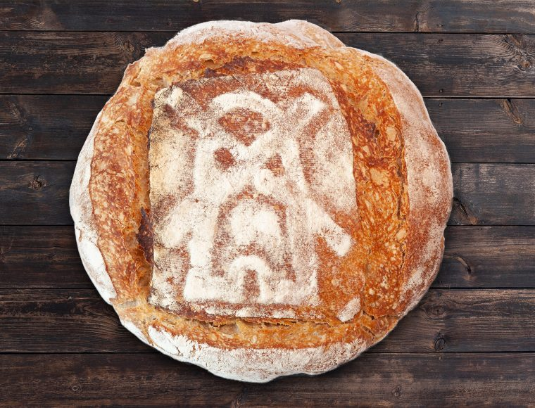 pâine intermediară cu drojdie sălbatică fără frământare