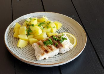 pește uleios (escalop) la grătar